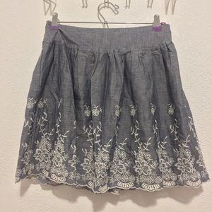 Forever 21 Embroidered Floral Skirt